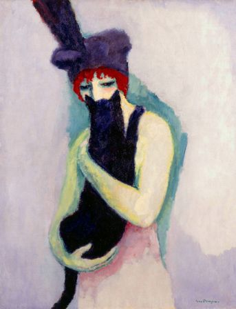Dongen-Kees-van-Dutch-French-1877-1968-Woman-with-Cat-1908.jpg